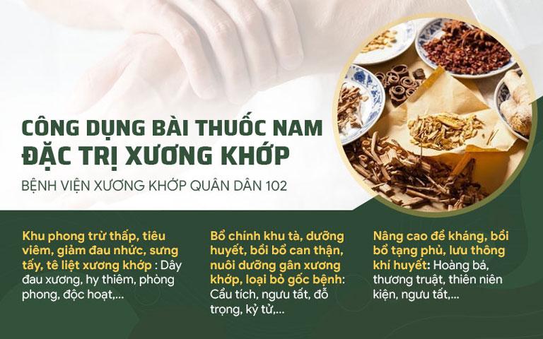 Công dụng nổi bật của Cốt vương Thần hiệu thang trong điều trị bệnh xương khớp