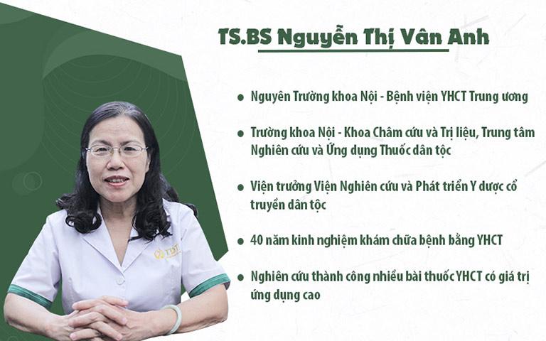 TS.BS Nguyễn Thị Vân Anh - Nguyên Trưởng khoa Khám bệnh, Bệnh viện YHCT Trung ương