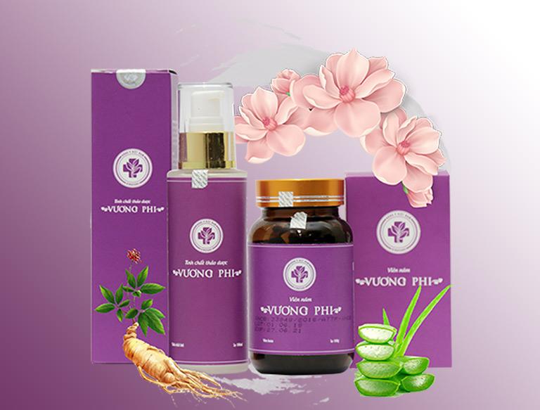 Bộ sản phẩm điều trị nám da, tàn nhang Vương Phi