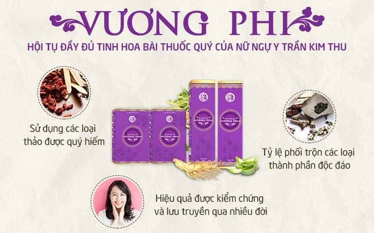 Bộ sản phẩm Vương Phi hội tụ tinh hoa từ bài thuốc của ngự y Trần Kim Thu