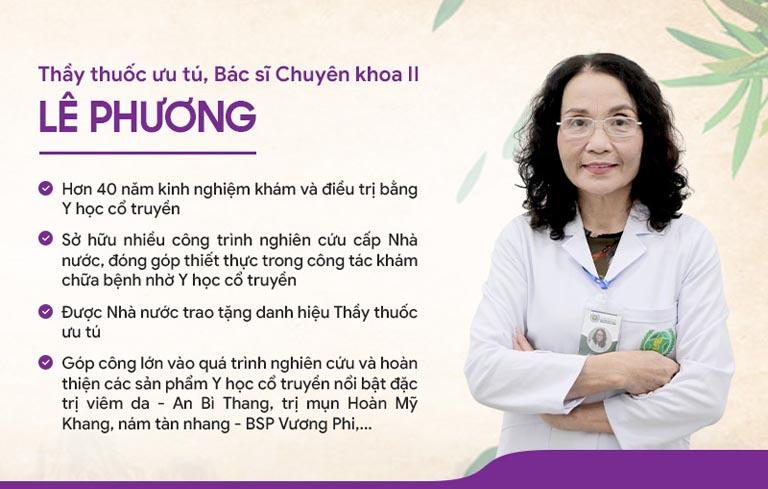Bác sĩ Lê Phương là người trực tiếp nghiên cứu và phát triển Bộ sản phẩm Vương Phi