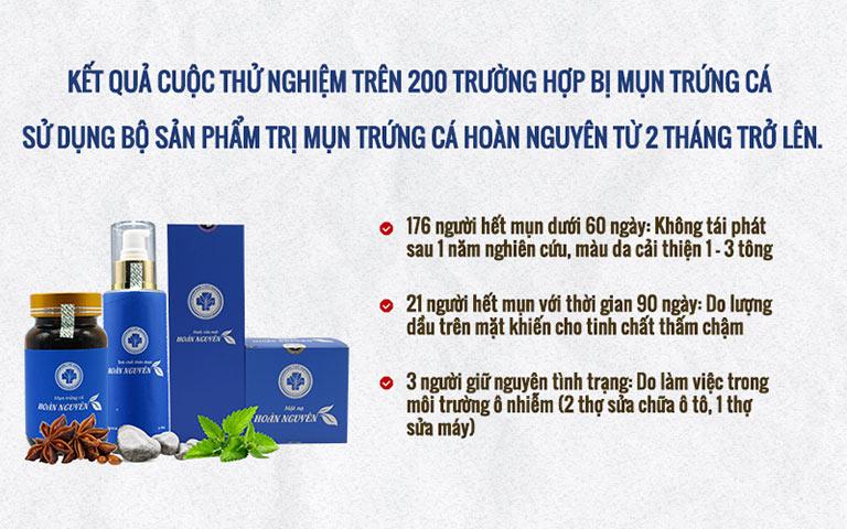 Mụn trứng cá Hoàn Nguyên được thử nghiệm lâm sàng chặt chẽ