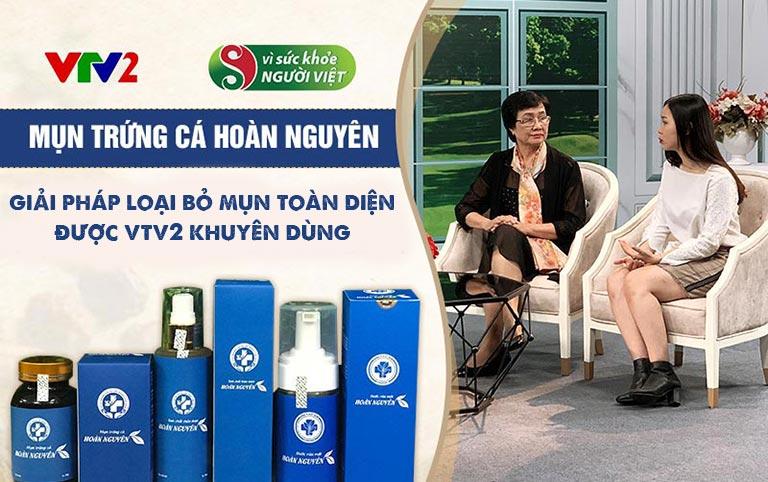 """Bác sĩ Nhuần và khách mời Huyền Anh trong chương trình """"Vì sức khỏe người Việt"""""""