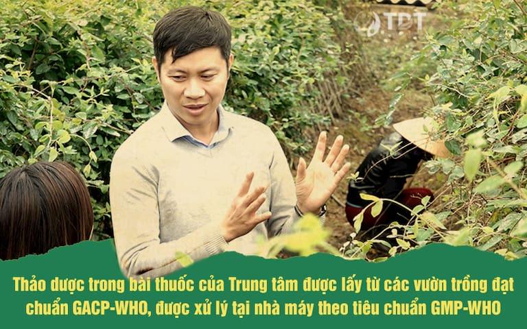 Ảnh chụp thật từ Vườn dược liệu Đông y của Trung tâm Thuốc dân tộc