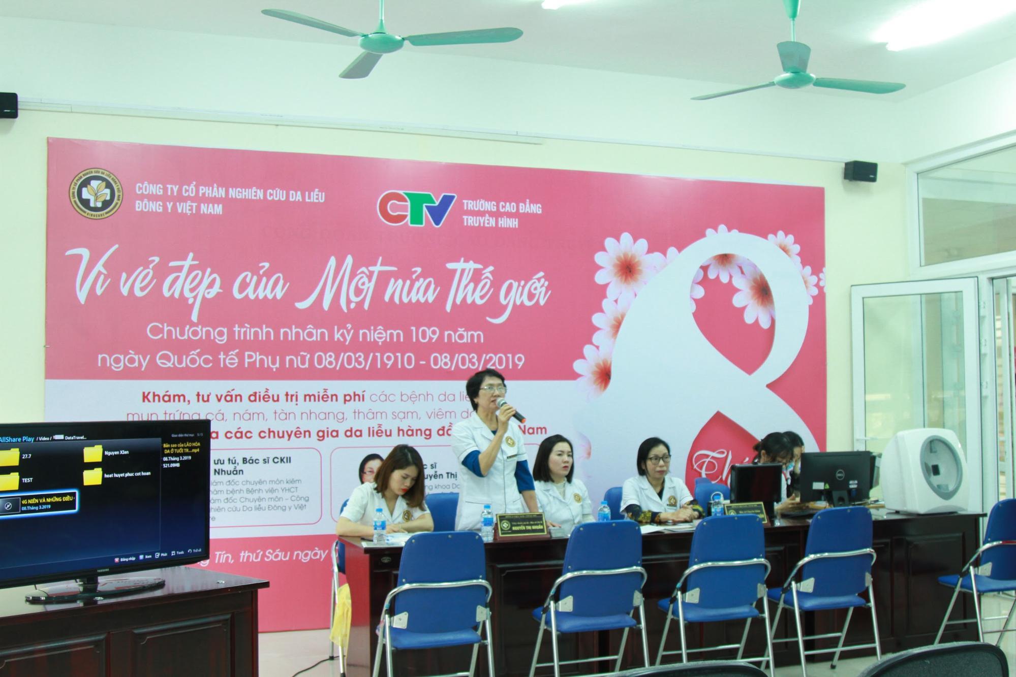 Bác sĩ Nguyễn Thị Nhuần, giám đốc chuyên môn Trung tâm Da liễu đông y Việt Nam Tư vấn các vấn đề về da