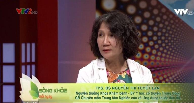 VTV2 mời bác sĩ Tuyết Lan với vai trò khách mời tư vấn kiến thức bệnh