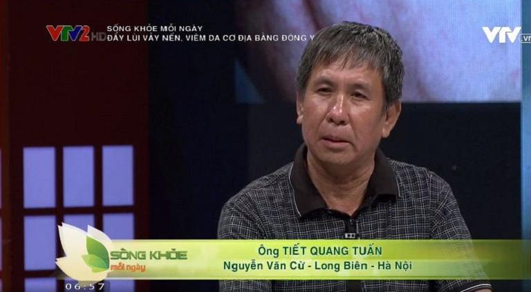 Ông Tuấn chia sẻ hiệu quả điều trị trên vTV2