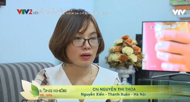 Chị Thỏa chia sẻ về bệnh viêm da cơ địa trên VTV2