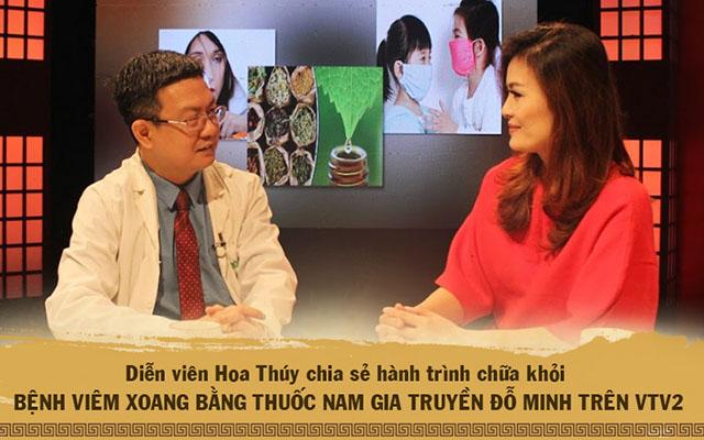 Diễn viên Hoa Thúy vui mừng chia sẻ hành trình trị khỏi viêm xoang, viêm họng tại nhà thuốc Đỗ Minh Đường trên VTV2
