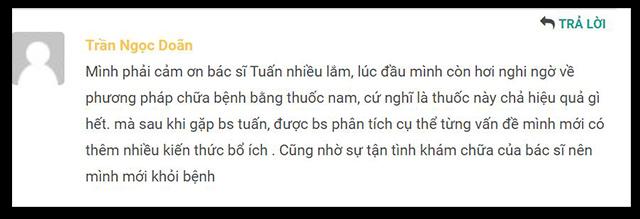 Chia sẻ của bệnh nhân Trần Ngọc Doãn về lương y Đỗ Minh Tuấn