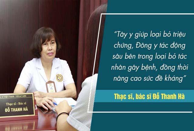 Bác sĩ Hà hiểu rõ được ưu nhược điểm của Đông y và Tây y rong điều trị viêm phụ khoa