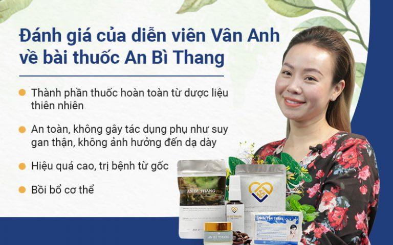 Đánh giá của nghệ sĩ Vân Anh về bài thuốc An Bì Thang