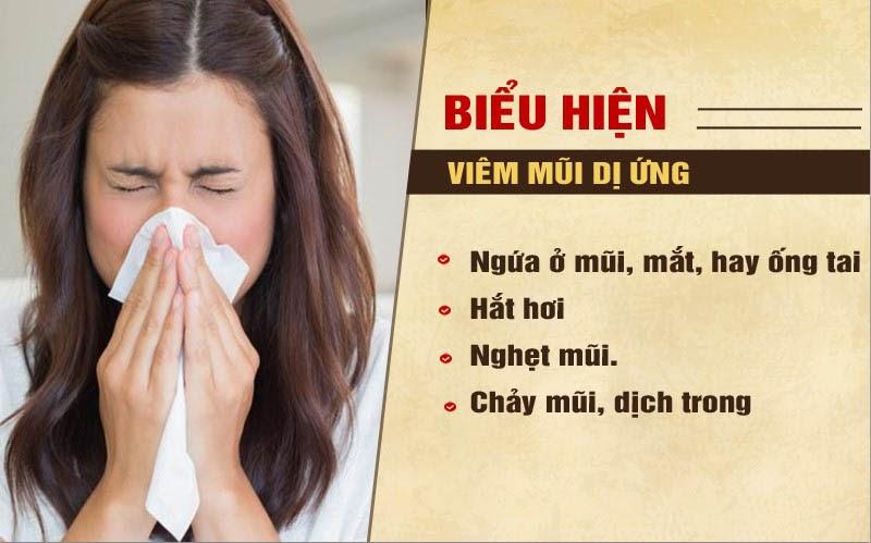Những biểu hiện của bệnh viêm mũi dị ứng