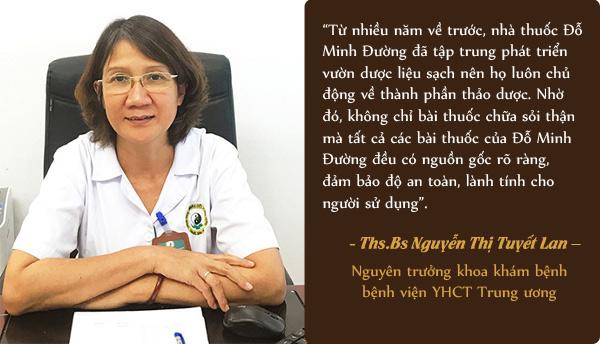 Bác sĩ Tuyết Lan nói về bài thuốc sỏi thận Đỗ Minh Đường
