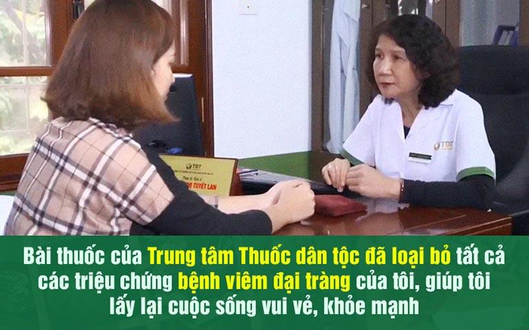 Bệnh nhân chữa khỏi viêm đại tràng tại Thuốc dân tộc hài lòng về kết quả điều trị