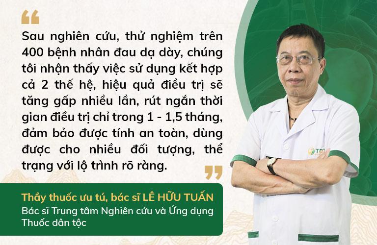 Bác sĩ Tuấn có những nhận định về bài thuốc thế hệ 2