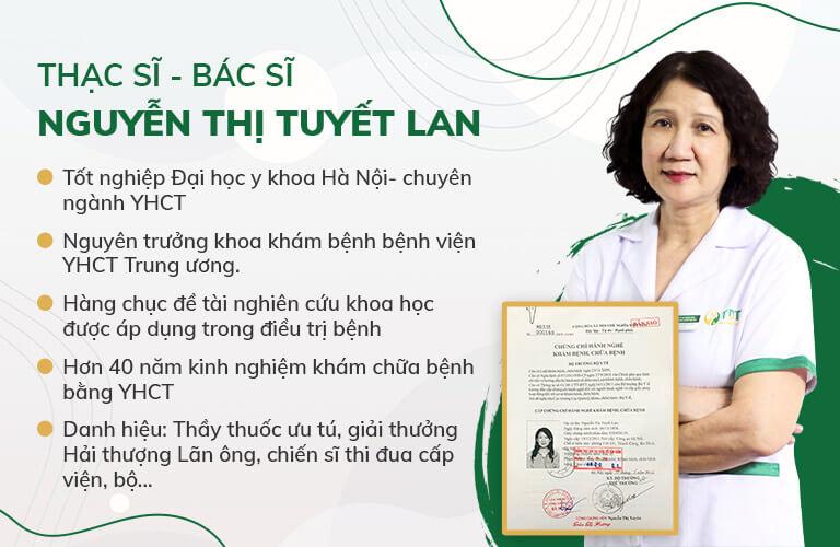 THS .BS Tuyết Lan - GĐ chuyên môn Thuốc dân tộc