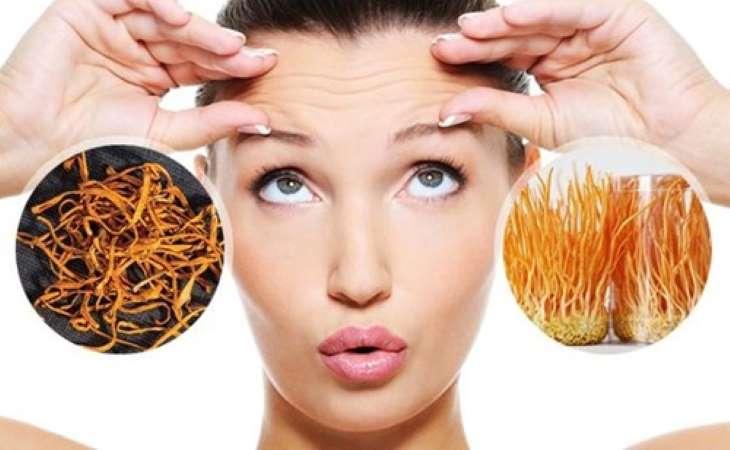 Đông trùng hạ thảo giúp phụ nữ chống lão hóa, làm đẹp hiệu quả