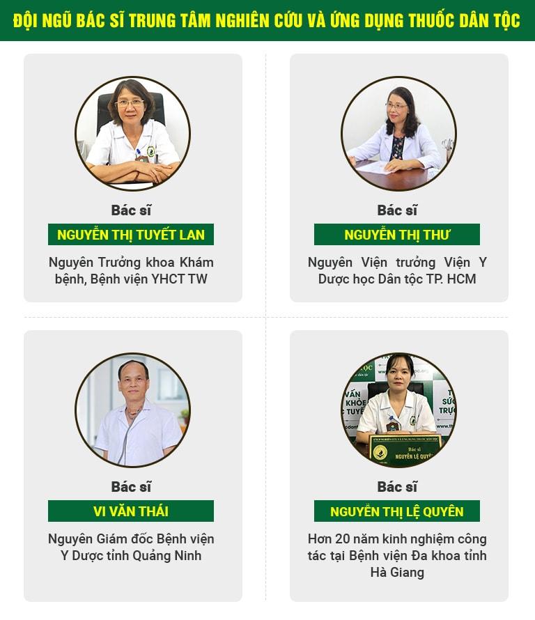 Đội ngũ bác sĩ hàng đầu chữa trào ngược dạ dày tại Thuốc dân tộc