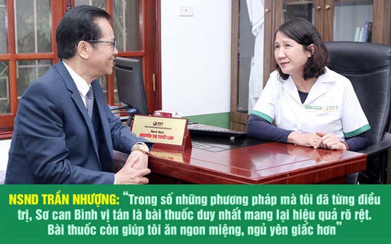 NSND Trần Nhượng hài lòng về kết quả điều trị đau dạ dày tại Thuốc dân tộc