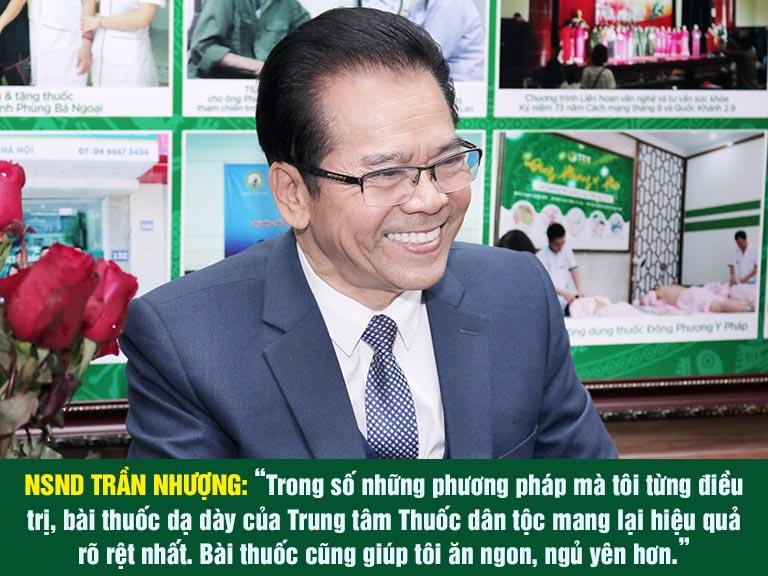 NSND Trần Nhượng trong buổi phỏng vấn