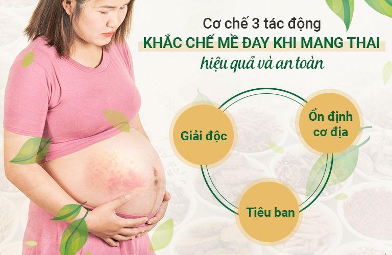 Cơ chế 3 tác động xử lý mề đay khi mang thai an toàn