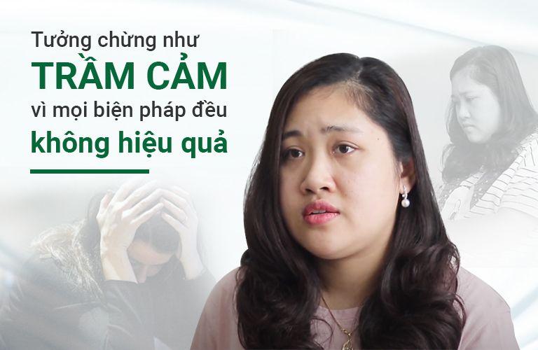Thử nhiều phương pháp nhưng triệu chứng nổi mề đay của chị Trinh không hề thuyên giảm