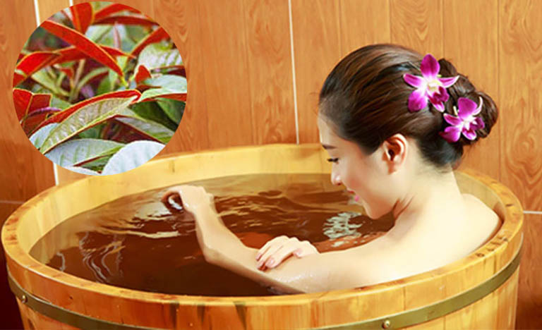 Tắm nước lá đơn đỏ giúp cải thiện rõ rệt tình trạng mẩn ngứa, dị ứng