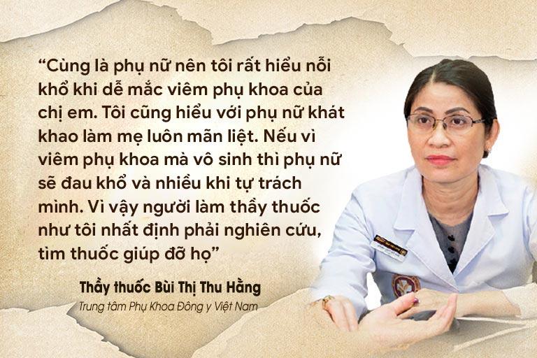 Lương y Thu Hằng luôn cố gắng phấn đấu để chữa viêm phụ khoa cho bệnh nhân