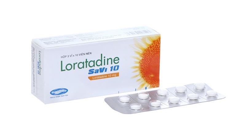 Thuốc uống Loratadine điều trị mẩn ngứa, mề đay