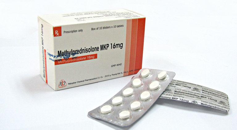 Thuốc uống Methylprednisolon điều trị nhanh chóng bệnh nổi mề đay