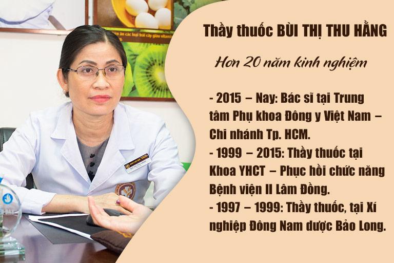 Thầy thuốc Bùi Thị Thu Hằng hơn 20 năm kinh nghiệm chữa bệnh phụ khoa