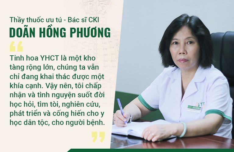 Bác sĩ Hồng Phương khiêm tốn chia sẻ