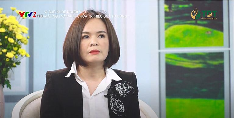Bác sĩ Lệ Quyên trong chương trình Vì sức khỏe người Việt VTV2