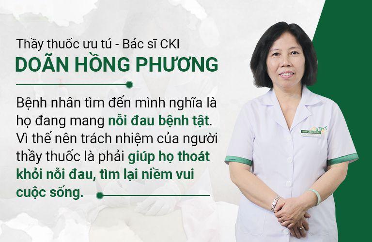 Bác sĩ Hồng Phương thấu hiểu nỗi đau bệnh nhân và luôn đồng hành với họ trong suốt quá trình điều trị