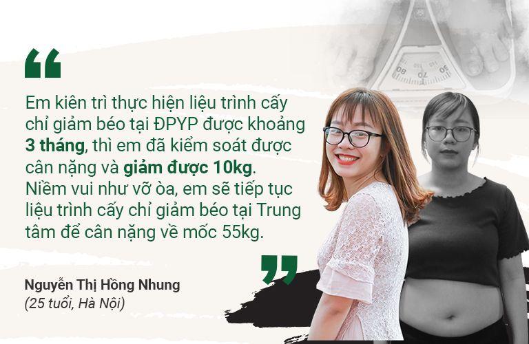 Chị Hồng Nhung hiện tại rất vui vẻ, hạnh phúc nhờ lấy lại được vóc dáng của mình