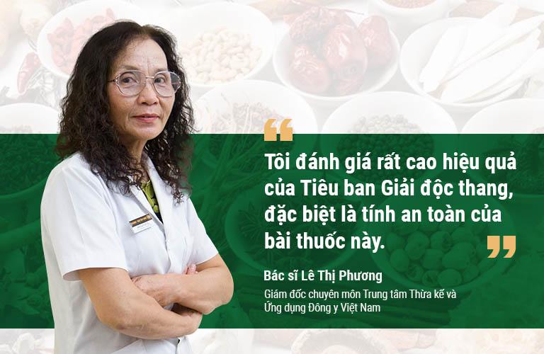 Nhận định của bác sĩ Lê Thị Phương về Tiêu ban Giải độc thang