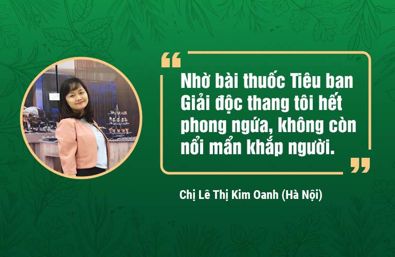 Phản hồi của chị Kim Oanh về hiệu quả của Tiêu ban Giải độc thang