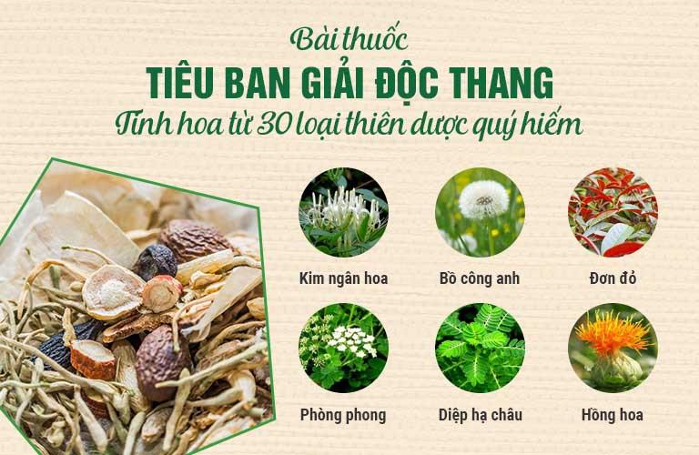 Tiêu ban Giải độc thang hòa quyện tinh hơn hơn 30 cây thuốc Việt