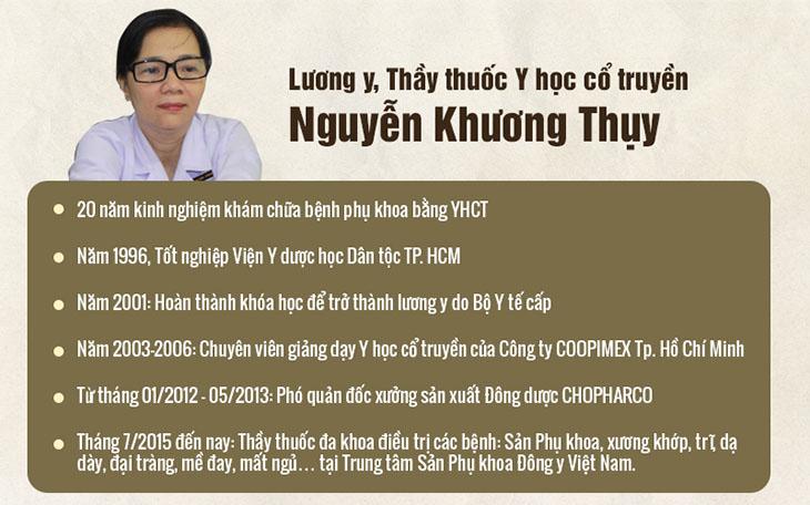 Bác sĩ Nguyễn Khương Thuỵ đã gắn bó với Y học cổ truyền suốt hơn 20 năm qua