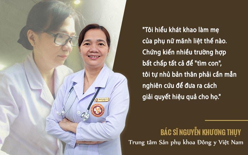 """Bác sĩ Thuỵ luôn cố gắng phấn đấu để hoàn thành trách nhiệm """"tìm lại hạnh phúc"""" cho bệnh nhân"""