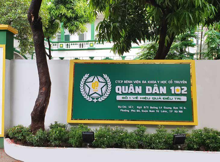 Bệnh viện YHCT Quân dân 102 - Cơ sở Hà Nôi