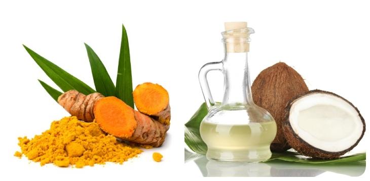 Chữa vảy nến bằng dầu dừa và nghệ