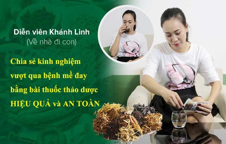 Diễn viên Khánh Linh chia sẻ cách chữa khỏi mề đay từ thảo dược