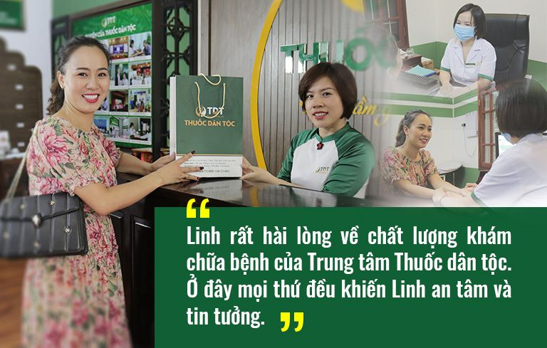Diễn viên Khánh Linh hài lòng về chất lượng khám chữa bệnh tại Trung tâm Thuốc dân tộc