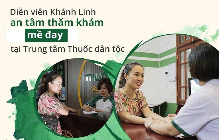 Diễn viên Khánh Linh tin tưởng thăm khám mề đay tại Trung tâm Thuốc dân tộc