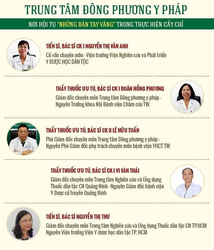 Đội ngũ y bác sĩ của TT Đông phương Y pháp