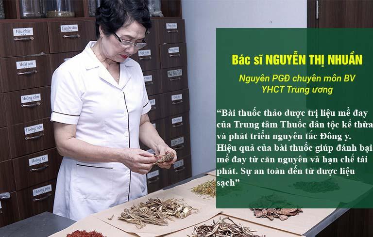 Bác sĩ Nhuần cũng đưa ra đánh giá về bài thuốc Tiêu ban Giải độc thang