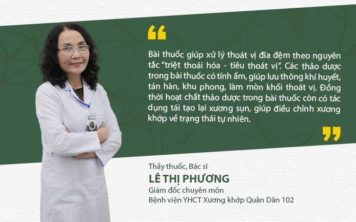 Bác sĩ Lê Phương trực tiếp điều trị cho NSUT Trần Đức