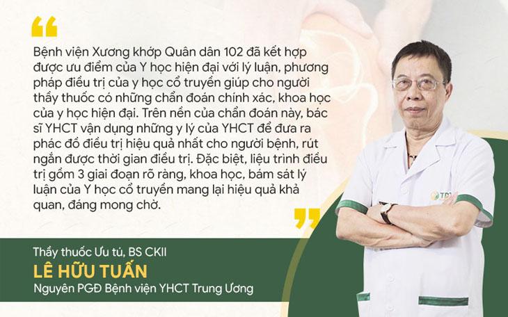 Thầy thuốc ưu tú Lê Hữu Tuấn, Nguyên Phó Giám đốc chuyên môn - Bệnh viện YHCT Trung ương